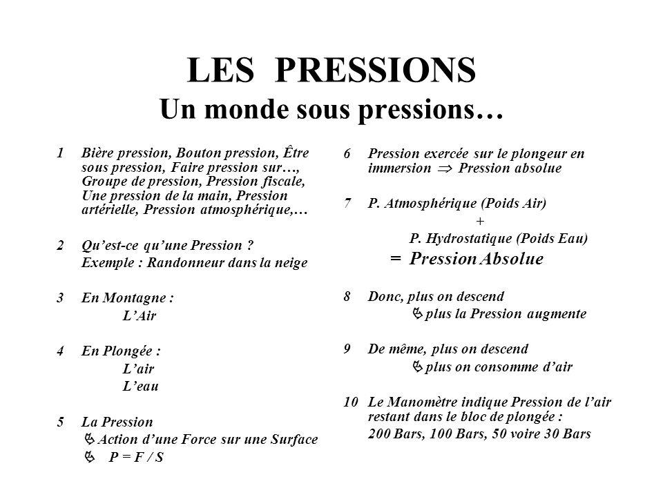LES PRESSIONS Un monde sous pressions… 1Bière pression, Bouton pression, Être sous pression, Faire pression sur…, Groupe de pression, Pression fiscale