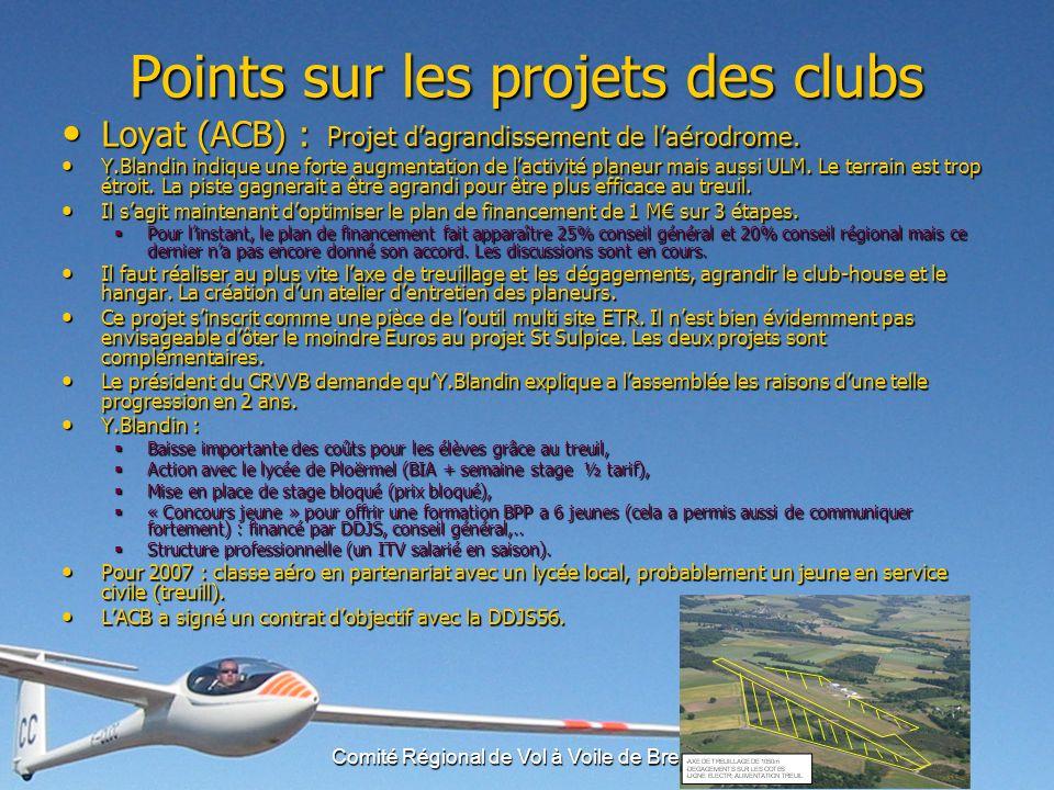 Comité Régional de Vol à Voile de Bretagne Bilan 2006