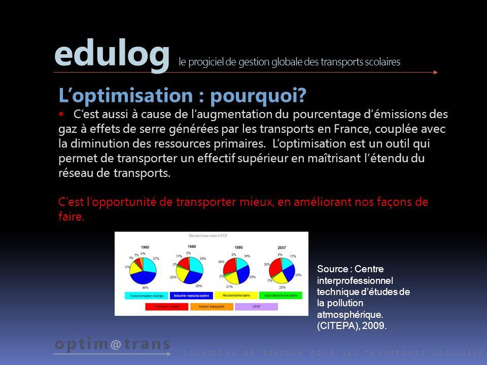 optim @ trans SOLUTIONS DE GESTION POUR LES TRANSPORTS SCOLAIRES www.edulog.com www.optimatrans.com