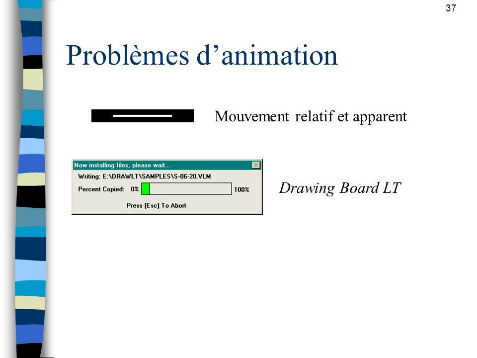 37 Problèmes danimation Drawing Board LT Mouvement relatif et apparent