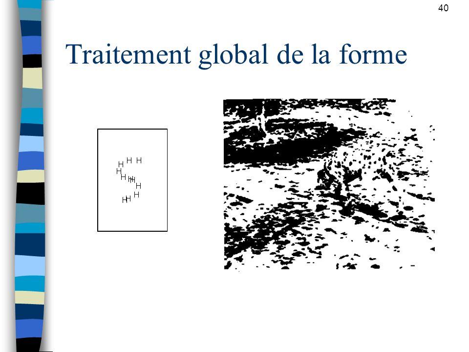 40 Traitement global de la forme