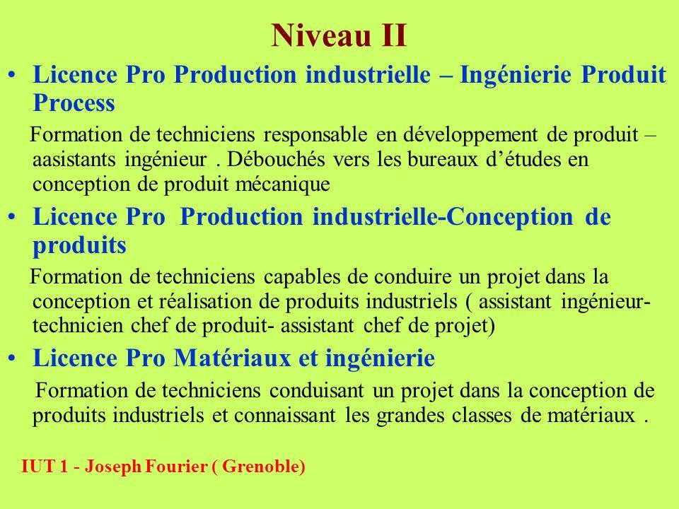 Niveau II Licence Pro Production industrielle – Ingénierie Produit Process Formation de techniciens responsable en développement de produit – aasistan