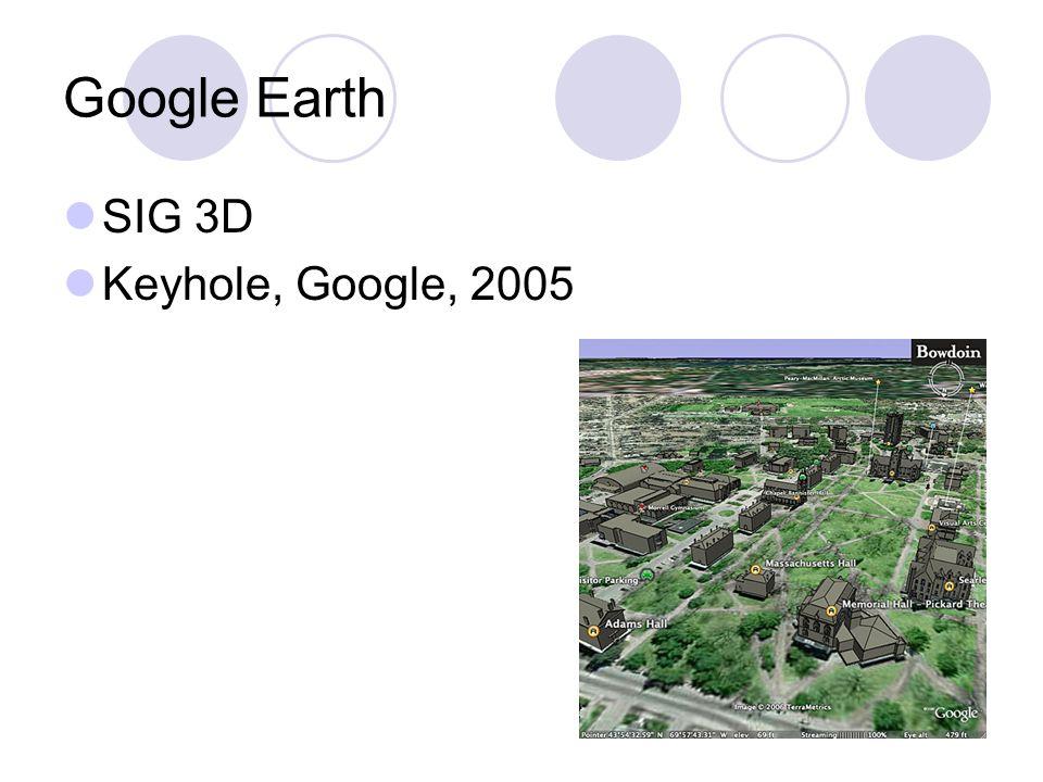Google Earth SIG 3D Keyhole, Google, 2005