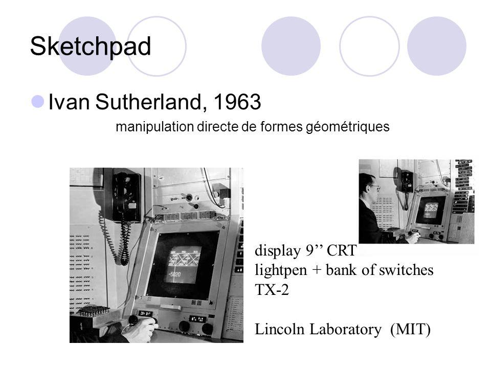 NLS/Augment Douglas Engelbart, 1968 travail collaboratif, partage de documents, visio- conférence