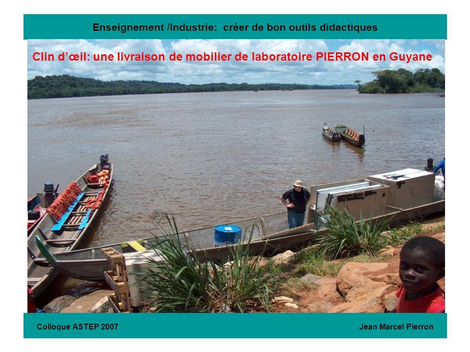 Enseignement /Industrie: créer de bon outils didactiques..\..\PHOTOS & imprimés\photos archives\livraisons (photos)\livraisons paillasses en Guyane 03