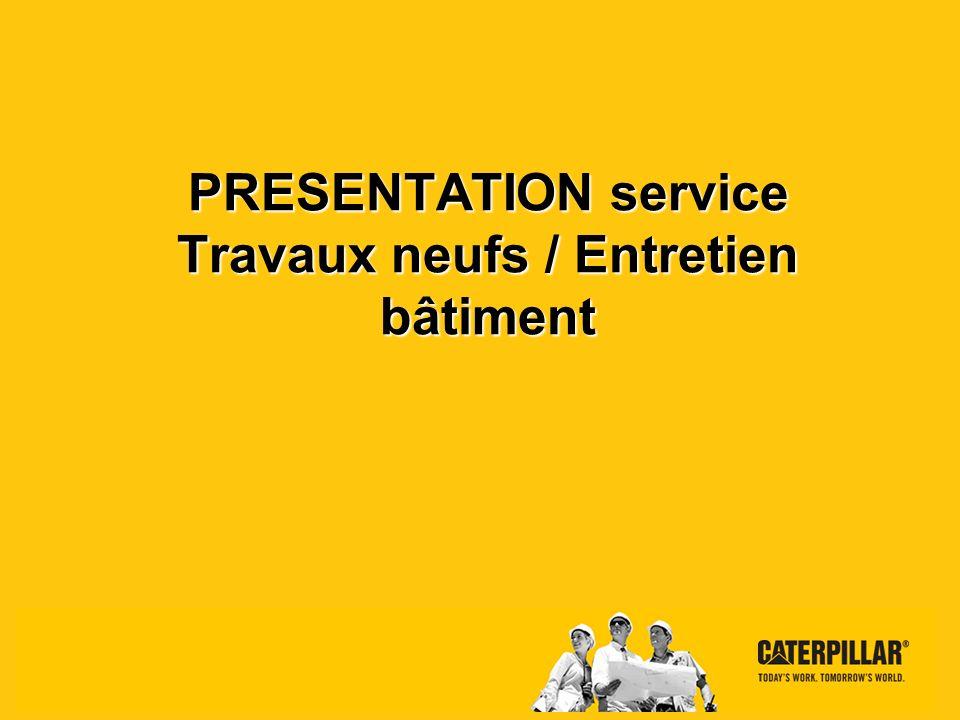 Presentation service TN Grenoble – 2012 Caterpillar: Confidential Green Page 2 La gestion des bâtiments MAINTENIR EN ETAT LES PROPRIETES ADAPTER LES BATIMENTS AUX BESOINS (FABRICATION, REGLEMENTATION,…) DISTRIBUER LES ENERGIES