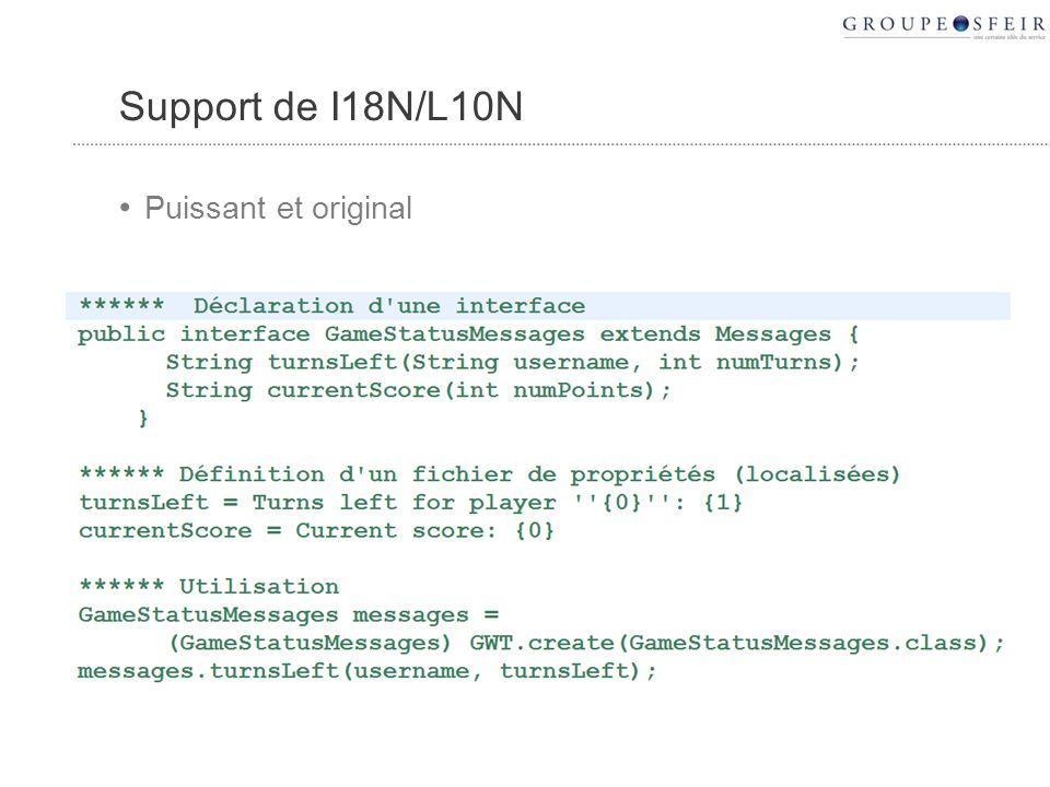 Support de I18N/L10N Puissant et original