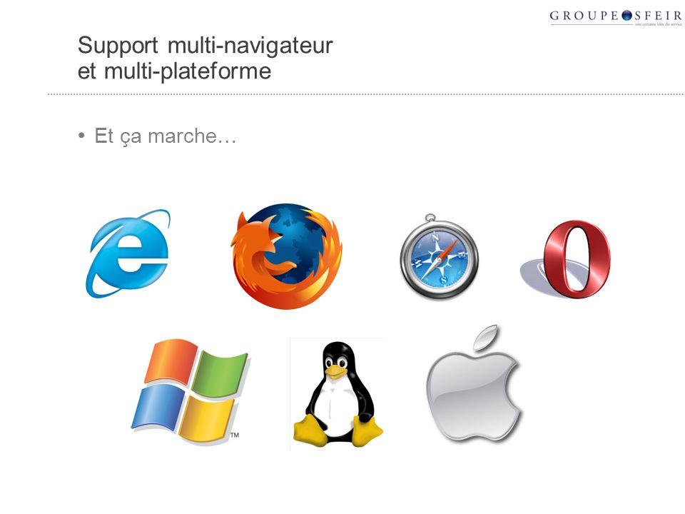 Support multi-navigateur et multi-plateforme Et ça marche…