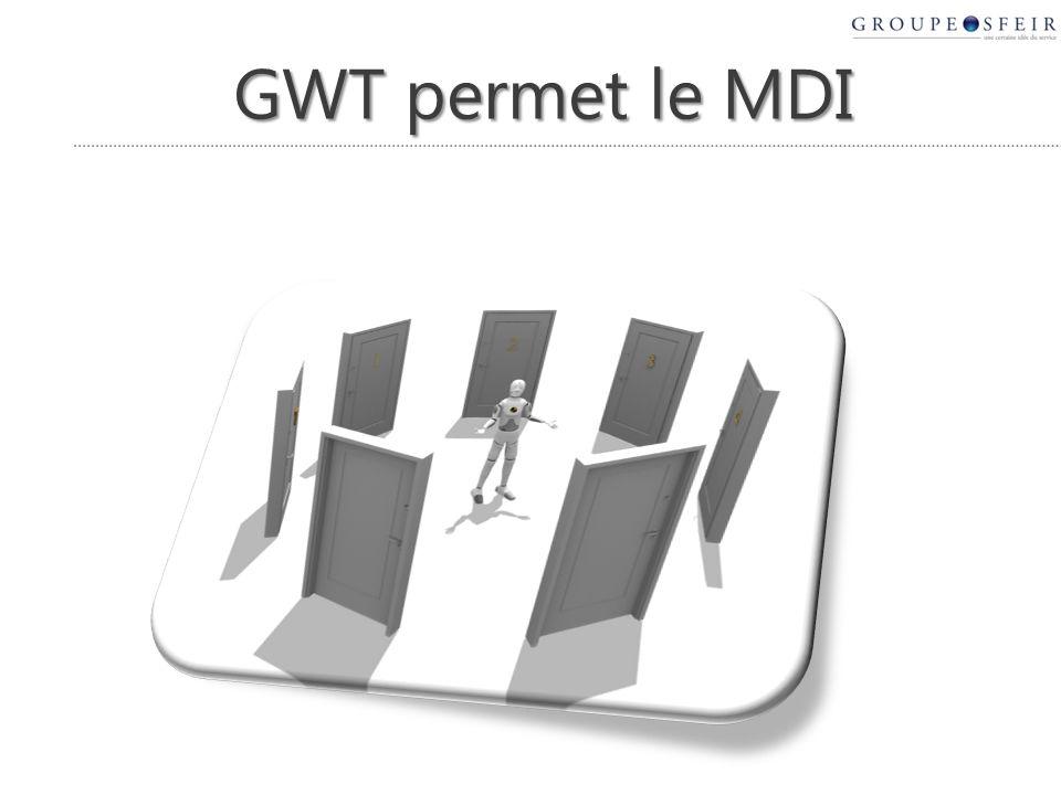 GWT permet le MDI