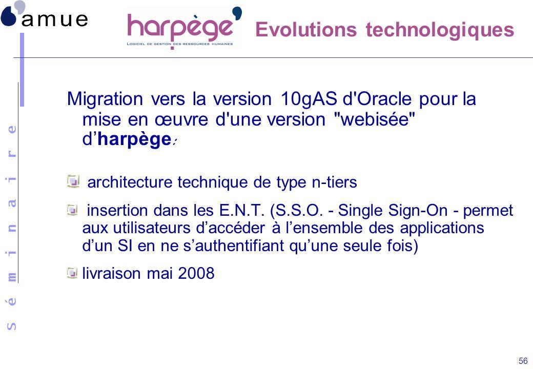 S é m i n a i r e 56 Migration vers la version 10gAS d'Oracle pour la mise en œuvre d'une version
