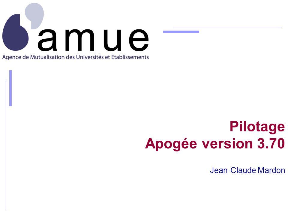 Pilotage Apogée version 3.70 Jean-Claude Mardon