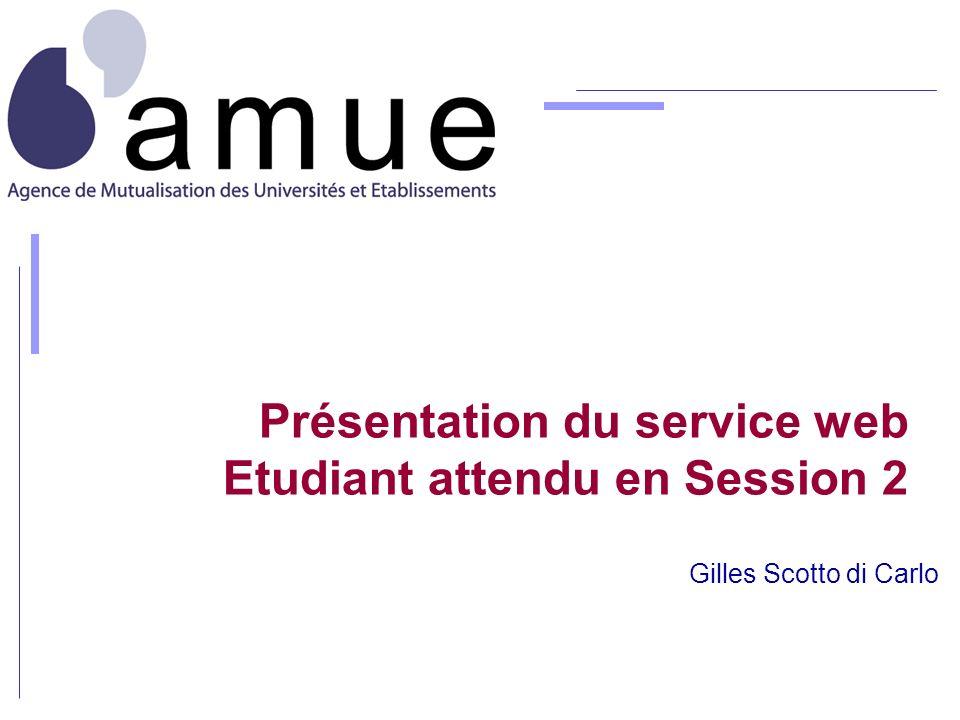 Présentation du service web Etudiant attendu en Session 2 Gilles Scotto di Carlo