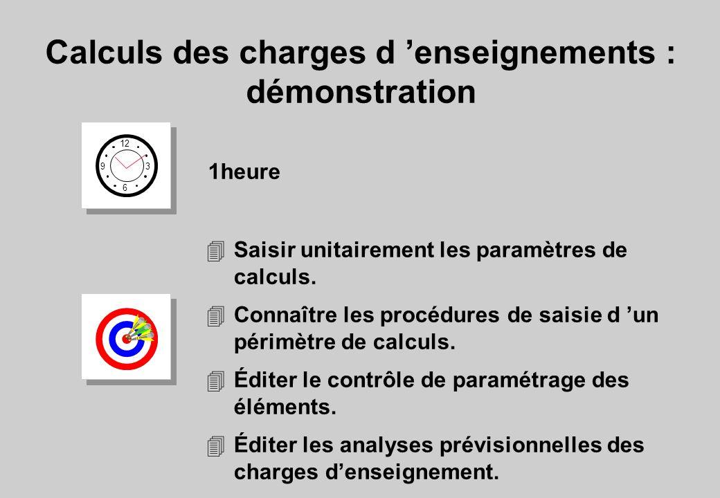4Saisir unitairement les paramètres de calculs. 4Connaître les procédures de saisie d un périmètre de calculs. 4Éditer le contrôle de paramétrage des