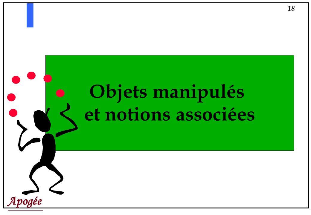 Apogée17 SEMINAIRE REGLES DE CALCUL DEFINITIONS Règle de calcul de Résultat : Objets manipulés : N° Type Code Nb Même........ N ou R Coef Seuil Param