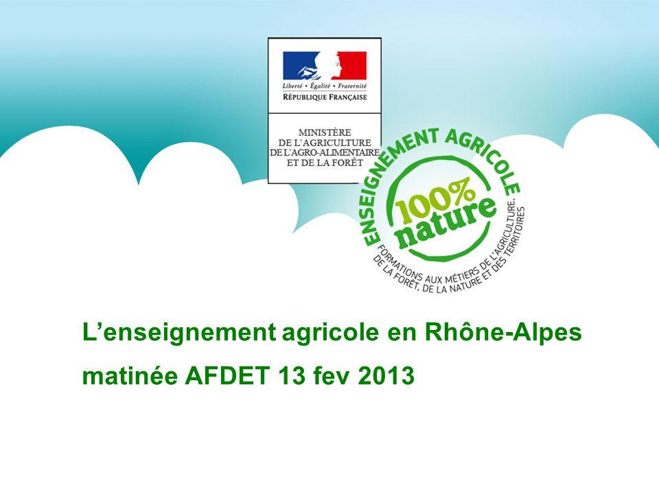 Lenseignement agricole en Rhône-Alpes matinée AFDET 13 fev 2013