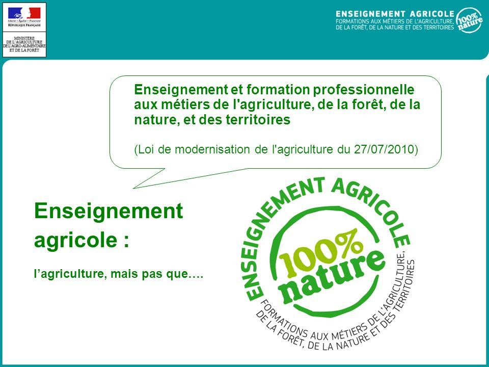 Enseignement agricole : lagriculture, mais pas que….