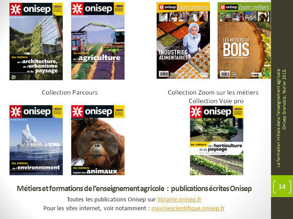 Métiers et formations de lenseignement agricole : publications écrites Onisep Toutes les publications Onisep sur librairie.onisep.frlibrairie.onisep.f