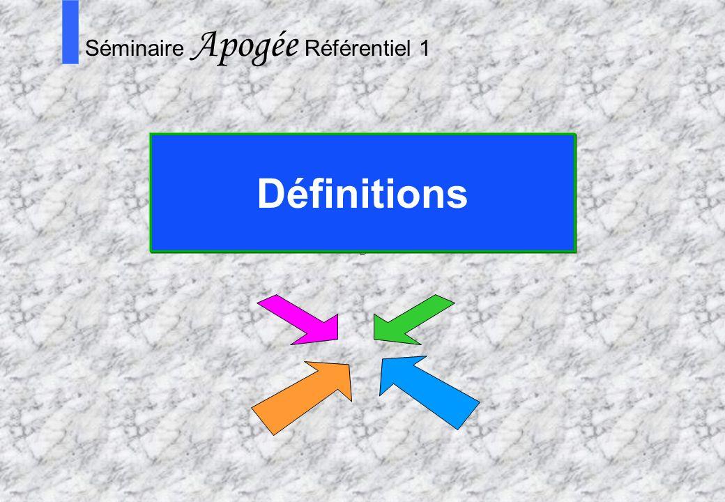 6 Apogée Séminaire référentiel (1) Introduction L application Apogée est divisée en domaines fonctionnels: IA, IP, RE… Il existe également un domaine spécifique qui permet de « paramétrer » l application en fonction des choix dorganisation et de gestion de l établissement : le REFERENTIEL REFERENTIEL RE IA IP SE