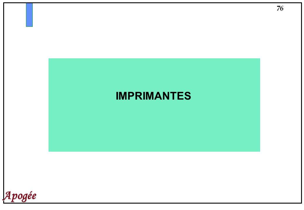 76 Apogée IMPRIMANTES