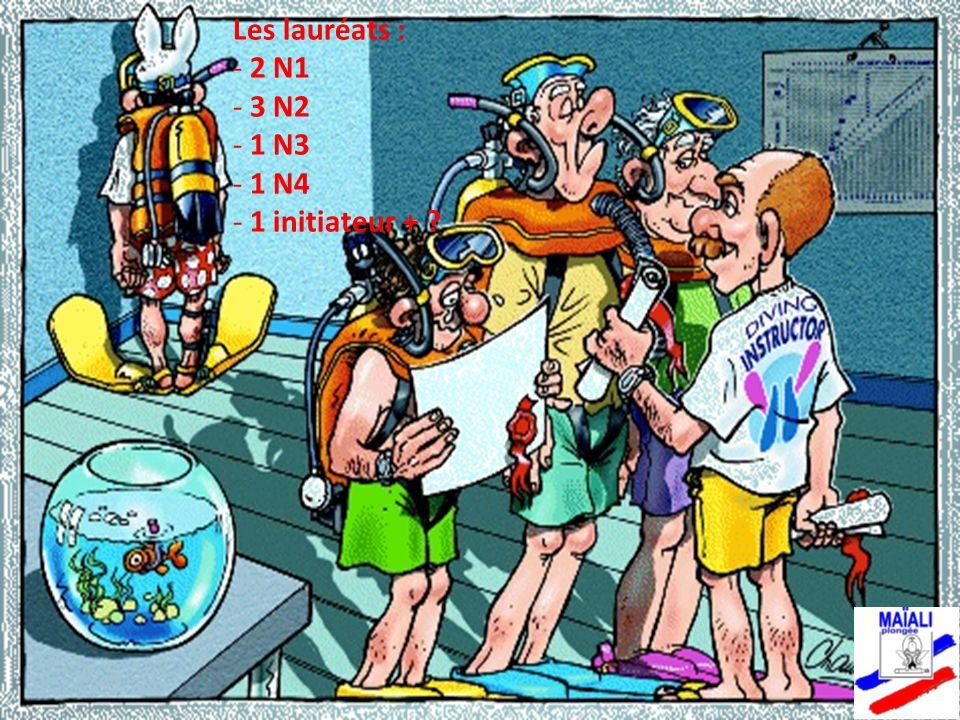 Les lauréats : - 2 N1 - 3 N2 - 1 N3 - 1 N4 - 1 initiateur + ?