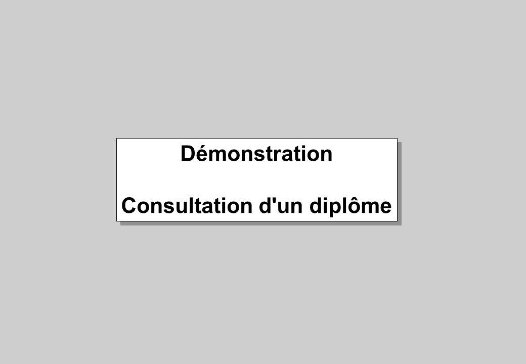 Démonstration Consultation d'un diplôme Démonstration Consultation d'un diplôme