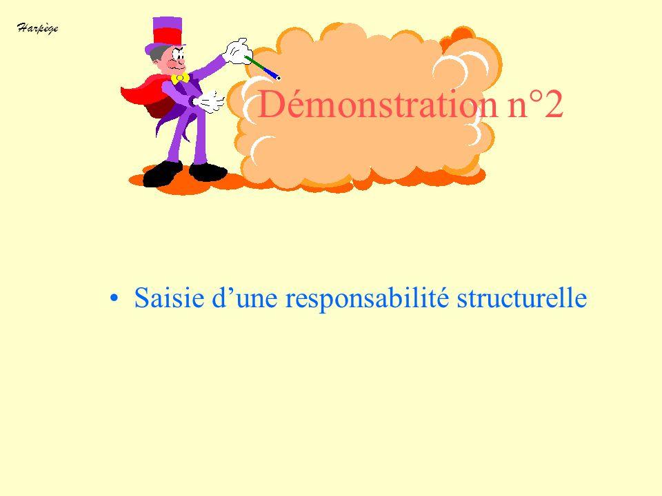 Harpège Démonstration n°2 Saisie dune responsabilité structurelle