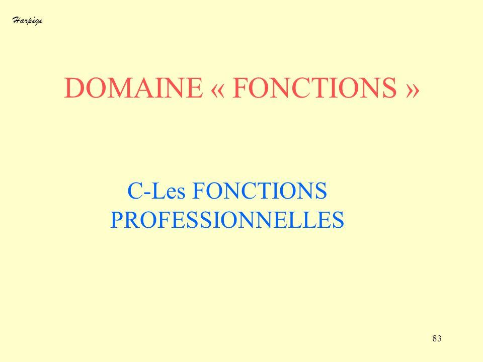 Harpège 83 DOMAINE « FONCTIONS » C-Les FONCTIONS PROFESSIONNELLES