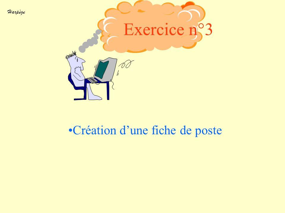 Harpège Création dune fiche de poste Exercice n°3