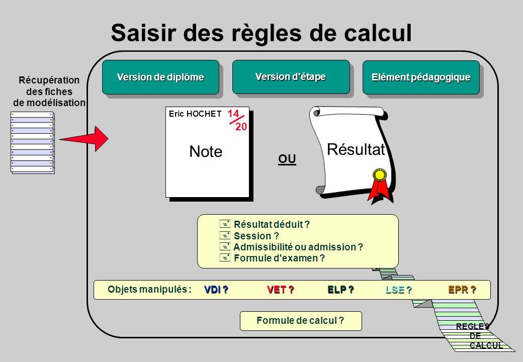 Saisir des règles de calcul 14 20 OU Formule de calcul .