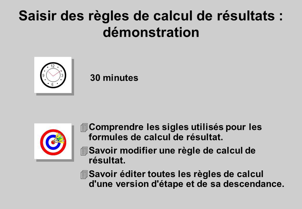 4Comprendre les sigles utilisés pour les formules de calcul de résultat.
