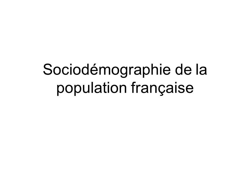 Sociodémographie de la population française