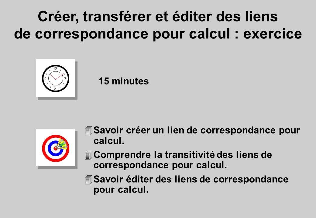 12 6 3 9 15 minutes 4Savoir créer un lien de correspondance pour calcul. 4Comprendre la transitivité des liens de correspondance pour calcul. 4Savoir