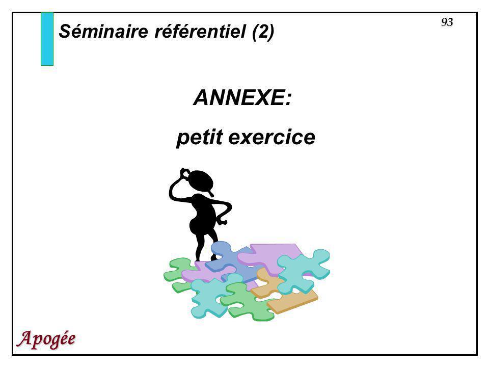 93 Apogée Séminaire référentiel (2) ANNEXE: petit exercice