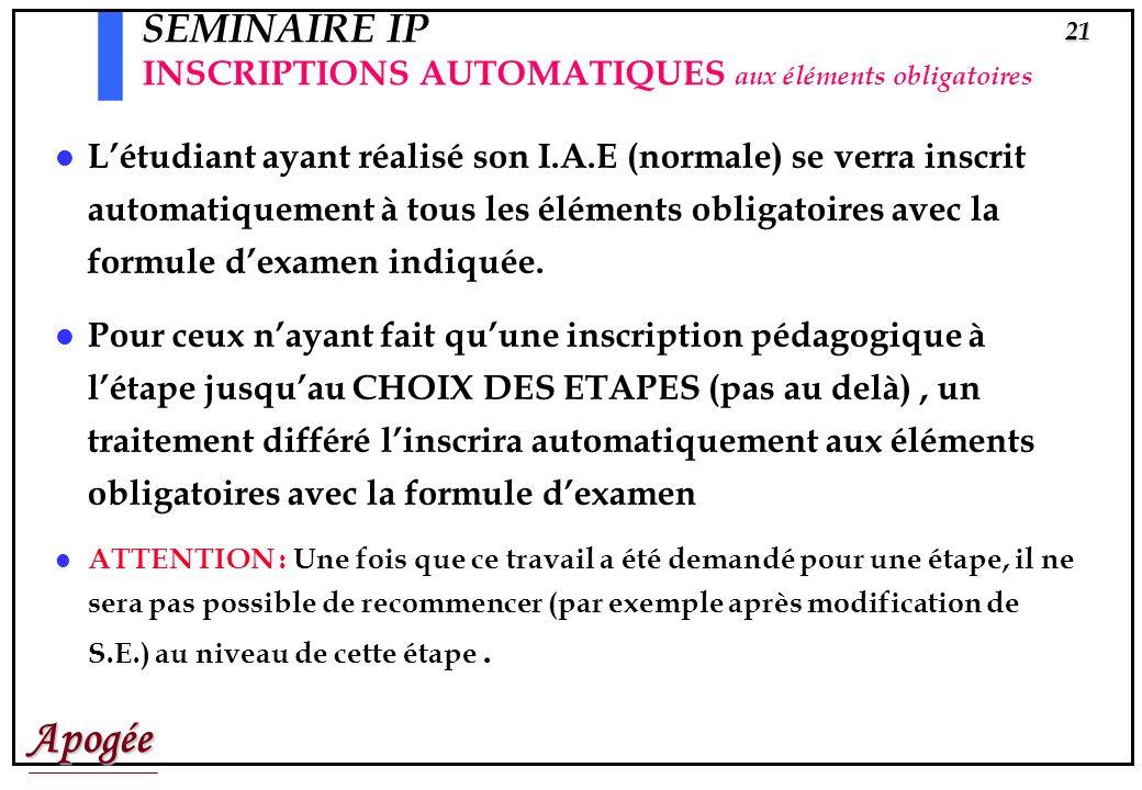 Apogée20 Inscriptions automatiques aux éléments obligatoires