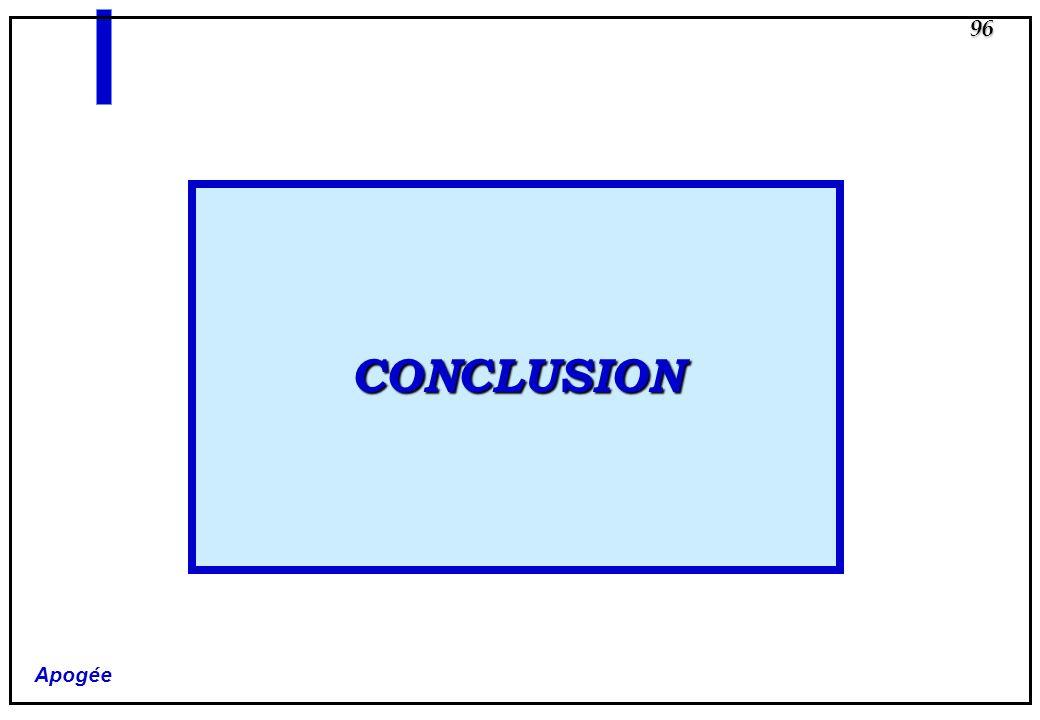Apogée 96 CONCLUSION