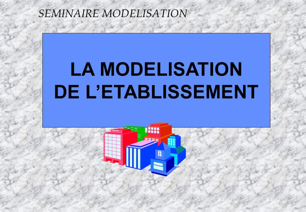 Apogée24 S LA MODELISATION DE LETABLISSEMENT SEMINAIRE MODELISATION