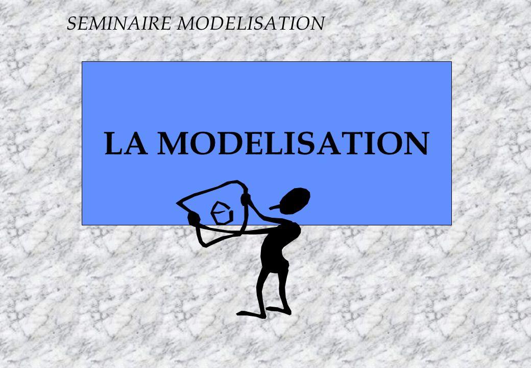Apogée5 S LA MODELISATION SEMINAIRE MODELISATION