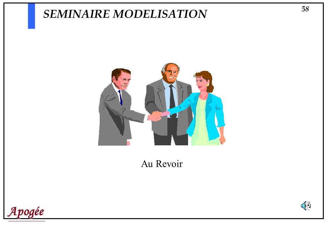 Apogée58 SEMINAIRE MODELISATION Au Revoir
