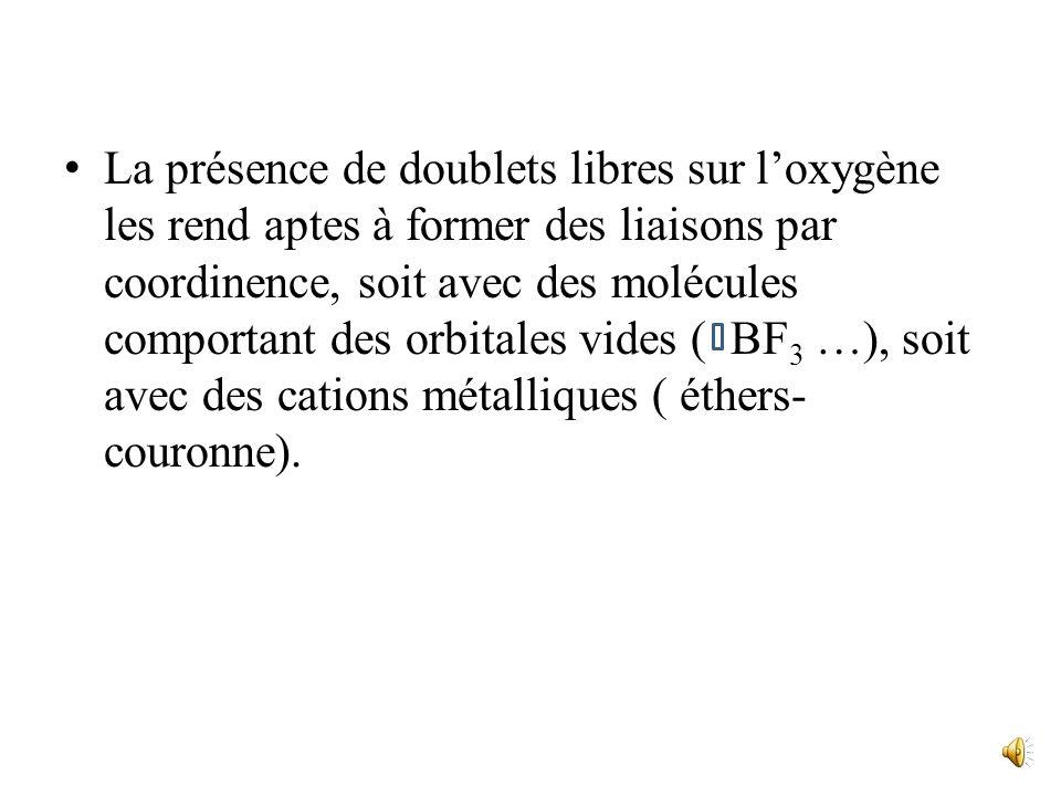 Les éthers-oxydes Les éthers-oxydes(souvent appelés éthers) ont pour groupement fonctionnel: -C-O-C- Et pour formule générale: R-O-R ( éthers symétriq