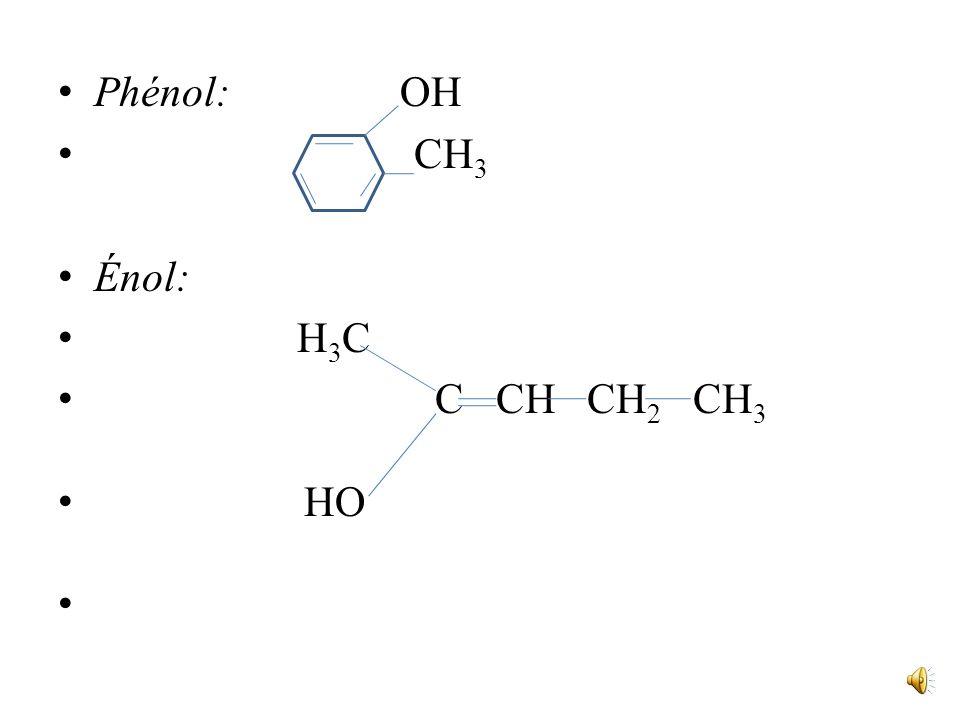 Ceci nexclut pas la présence éventuelle dun cycle benzénique, ou dune double liaison dans la molécule dun alcool, à condition que le groupe hydroxyle