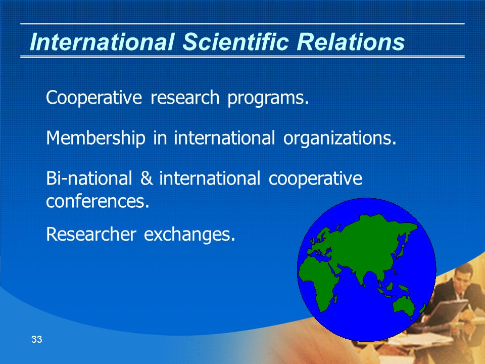 32 Science Division - Org Chart Chief Scientist Office Manager Operation & Control Bio-Science Agriculture & Environment Administration Assistant Exact Science Computers Scientific Assistant Advisors Regional R&D Professional Advisor Social Assistant Scientific Directors References Assistant International Affairs Director Professional Advisor Assistant Materials & Energy Professional Advisor Assistant Medicine Professional Advisor Assistant Israel Space Agency Assistant