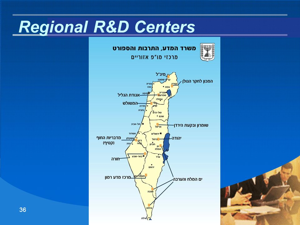 35 To the Region For the Region About the Region Regional R&D Centers