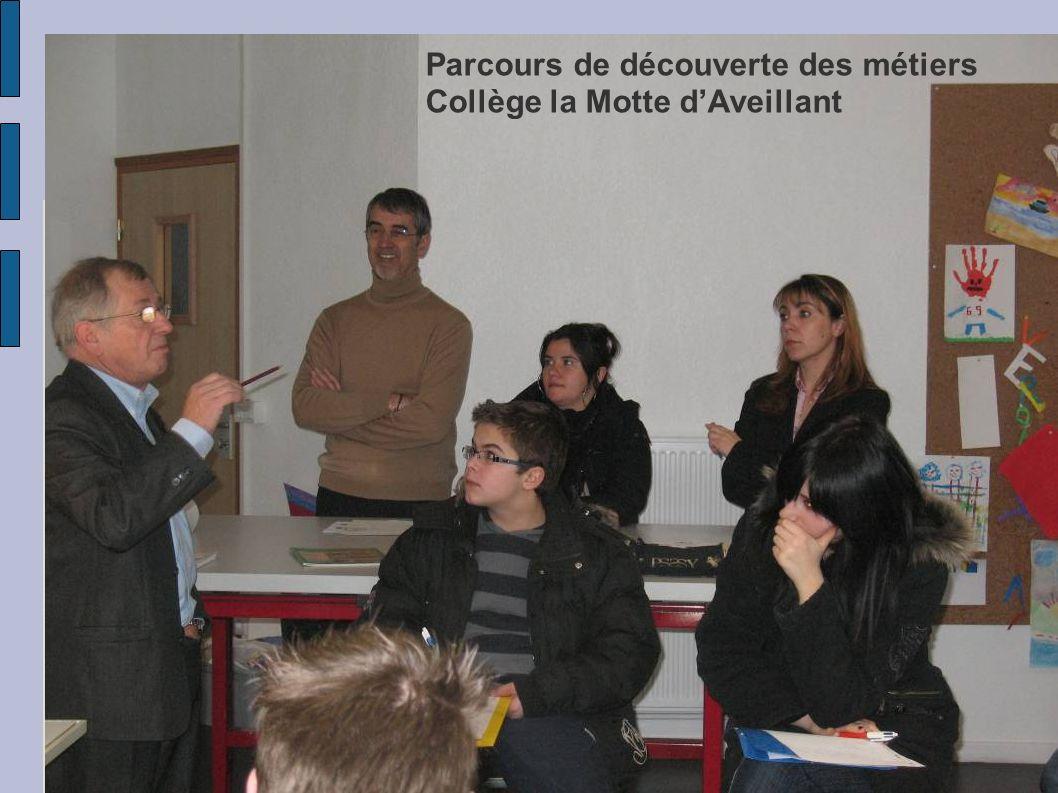 Parcours de découverte des métiers Collège la Motte dAveillant