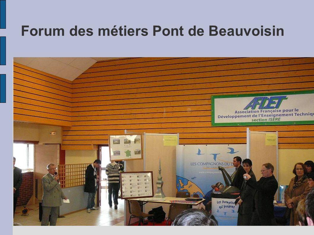 Forum des métiers Pont de Beauvoisin