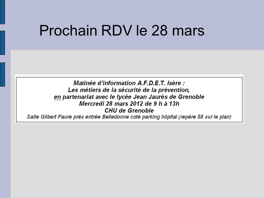 Prochain RDV le 28 mars