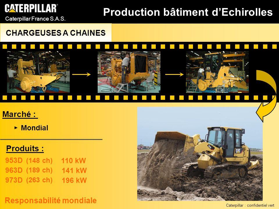 Caterpillar France S.A.S. Marché : 953D 963D 973D 110 kW 141 kW 196 kW (148 ch) (189 ch) (263 ch) Responsabilité mondiale Produits : Mondial Productio