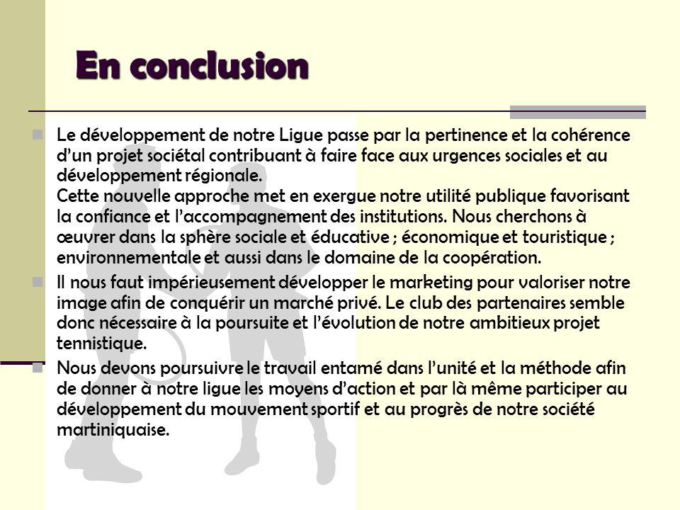 En conclusion Le développement de notre Ligue passe par la pertinence et la cohérence dun projet sociétal contribuant à faire face aux urgences social