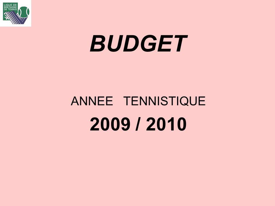 BUDGET ANNEE TENNISTIQUE 2009 / 2010