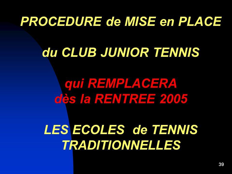 38 CLUB JUNIOR AVENIRCLUB JUNIOR EDUCATIF MINI TENNIS 5 - 6 ans CLUB JUNIOR AVENIR Avec une EMPREINTE TECHNIQUE MINI TENNIS 5 - 6 ans CLUB JUNIOR EDUC