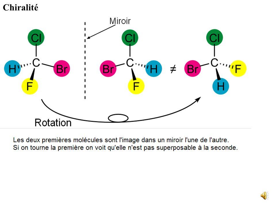 Si la différence entre les formules développées apparaît seulement dans leur représentation géométrique ou spatiale, on parle de stéréoisomérie, qui p